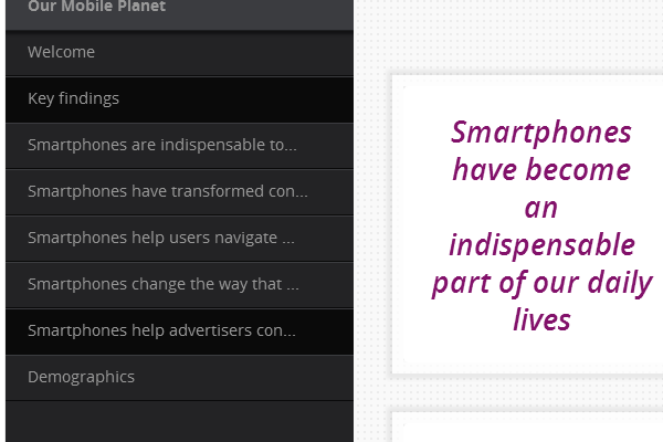 Click on 'Smartphones help advertisers con...'